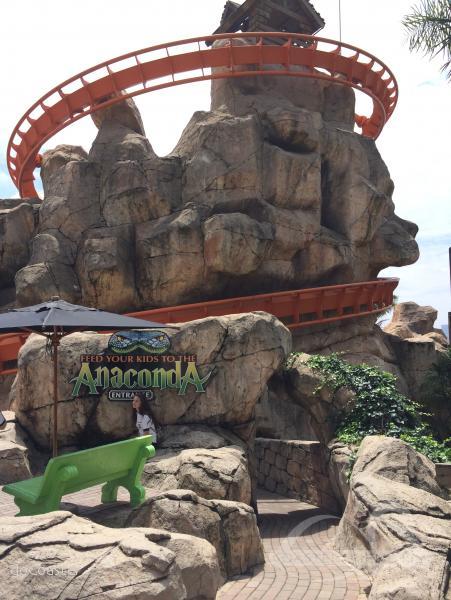 Anaconda im Park Gold Reef City Impressionen