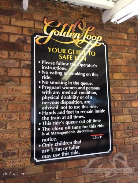 Golden Loop im Park Gold Reef City Impressionen