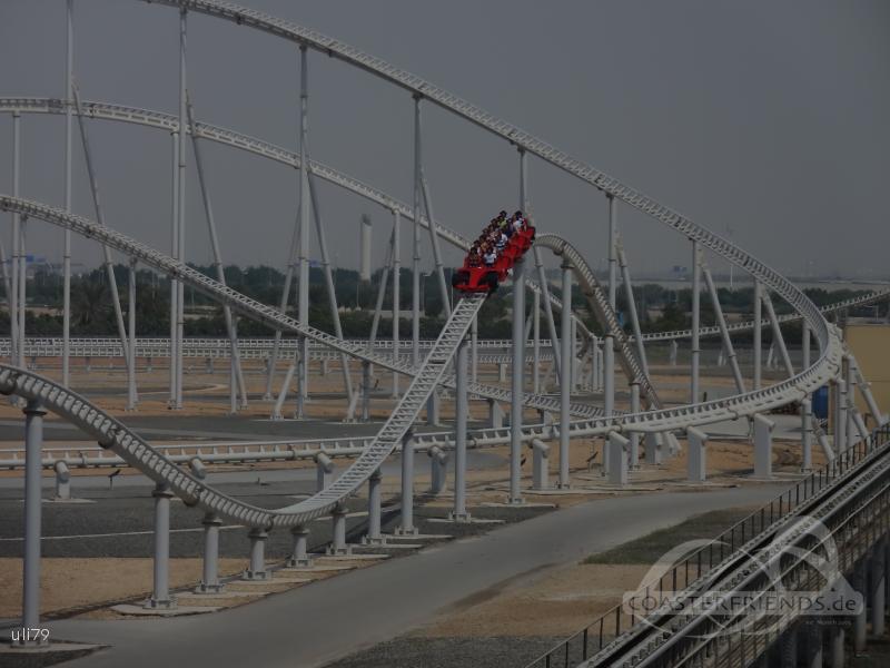 Formula Rossa im Park Ferrari World Abu Dhabi Impressionen