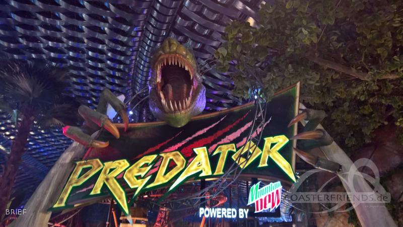 Predator im Park IMG Worlds of Adventure Impressionen