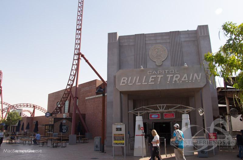 Capitol Bullet Train im Park Motiongate Impressionen