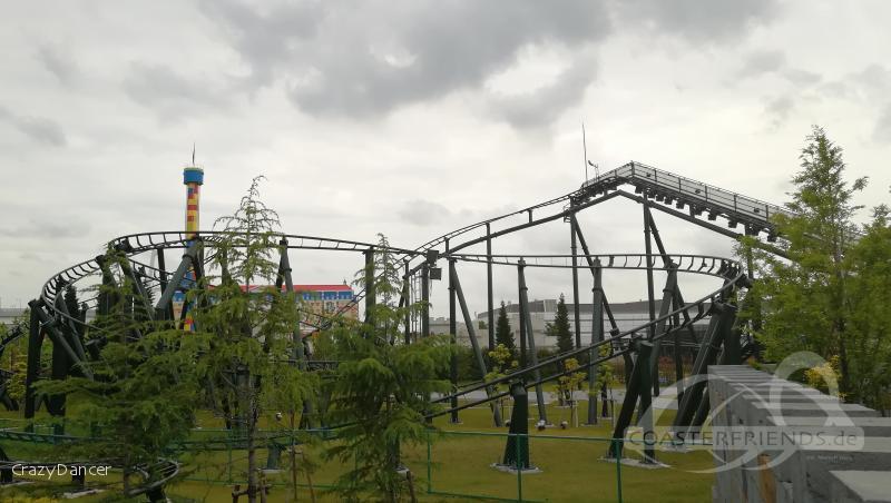 Dragon Coaster im Park Legoland Japan Impressionen