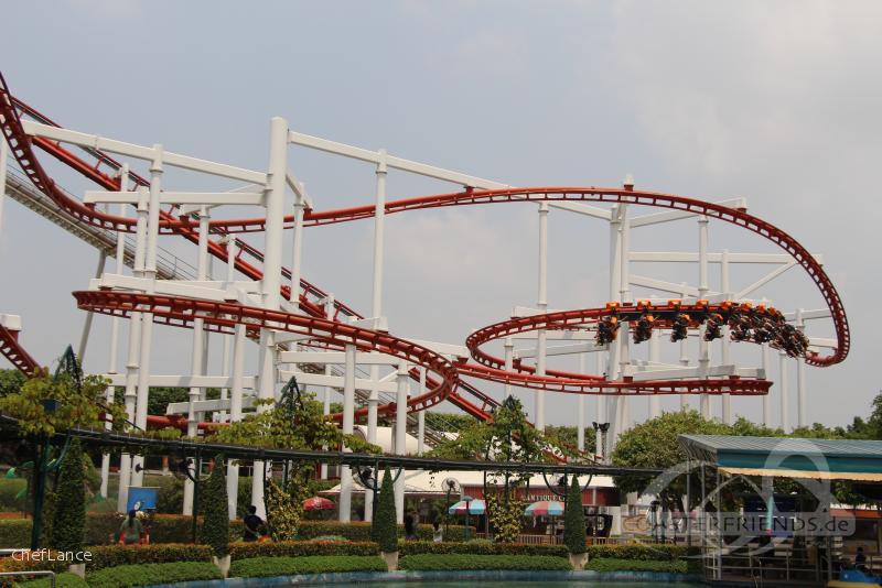Sky Coaster im Park Dream World Impressionen