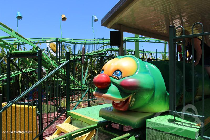 Bug Run Kiddie Rollercoaster im Park Aussie World Impressionen
