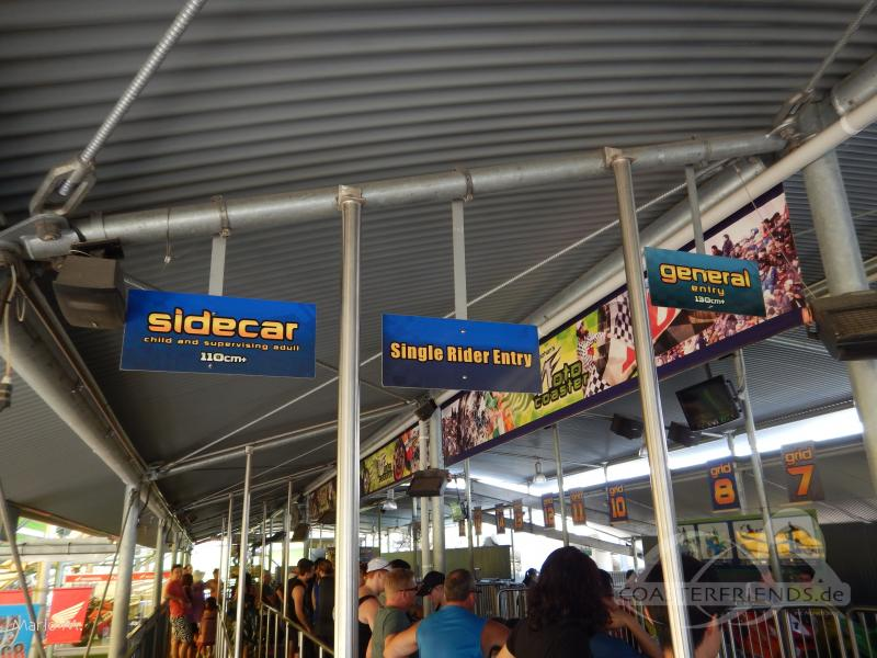 Mick Doohan's Motocoaster im Park Dreamworld Impressionen
