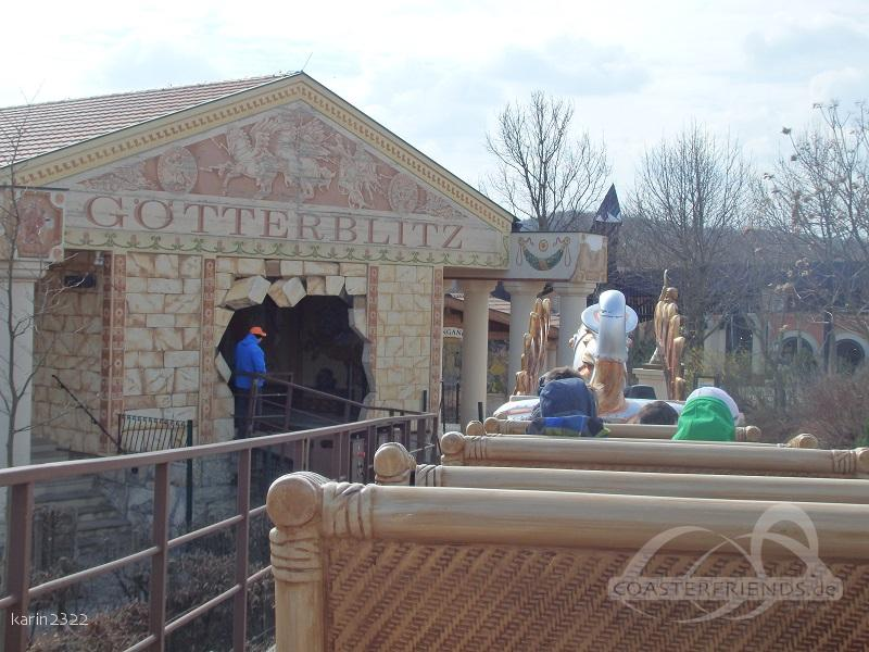 Götterblitz im Park Familypark Impressionen