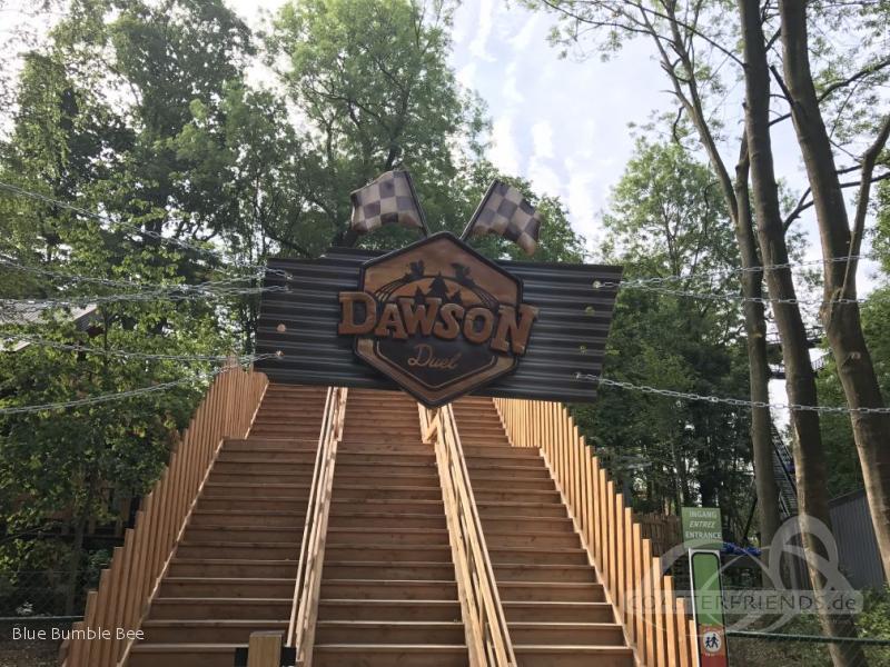 Dawson Duell (green) im Park Bellewaerde Impressionen