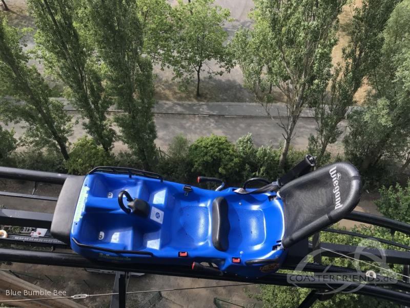 Dawson Duell (blue) im Park Bellewaerde Impressionen