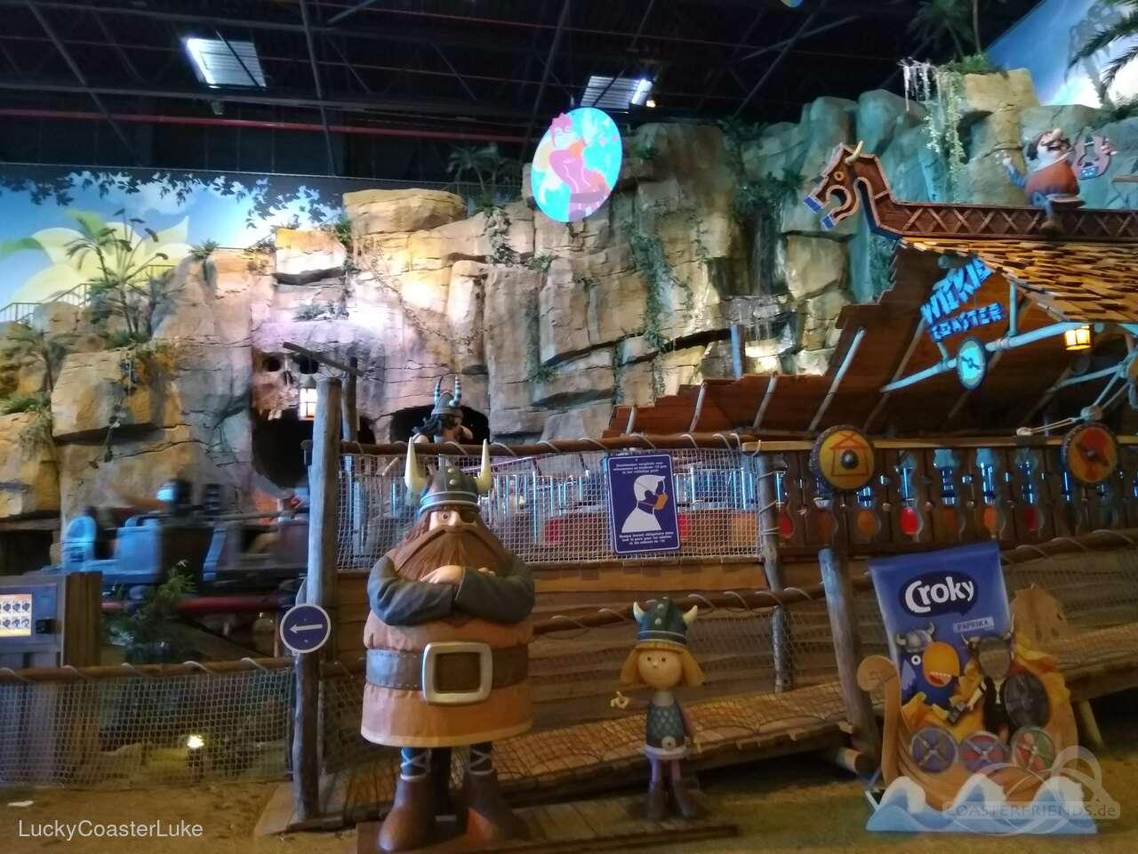 Wickie Coaster im Park Plopsa Indoor Hasselt Impressionen