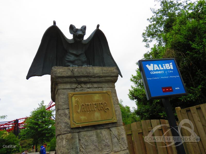 Vampire im Park Walibi Belgium Impressionen