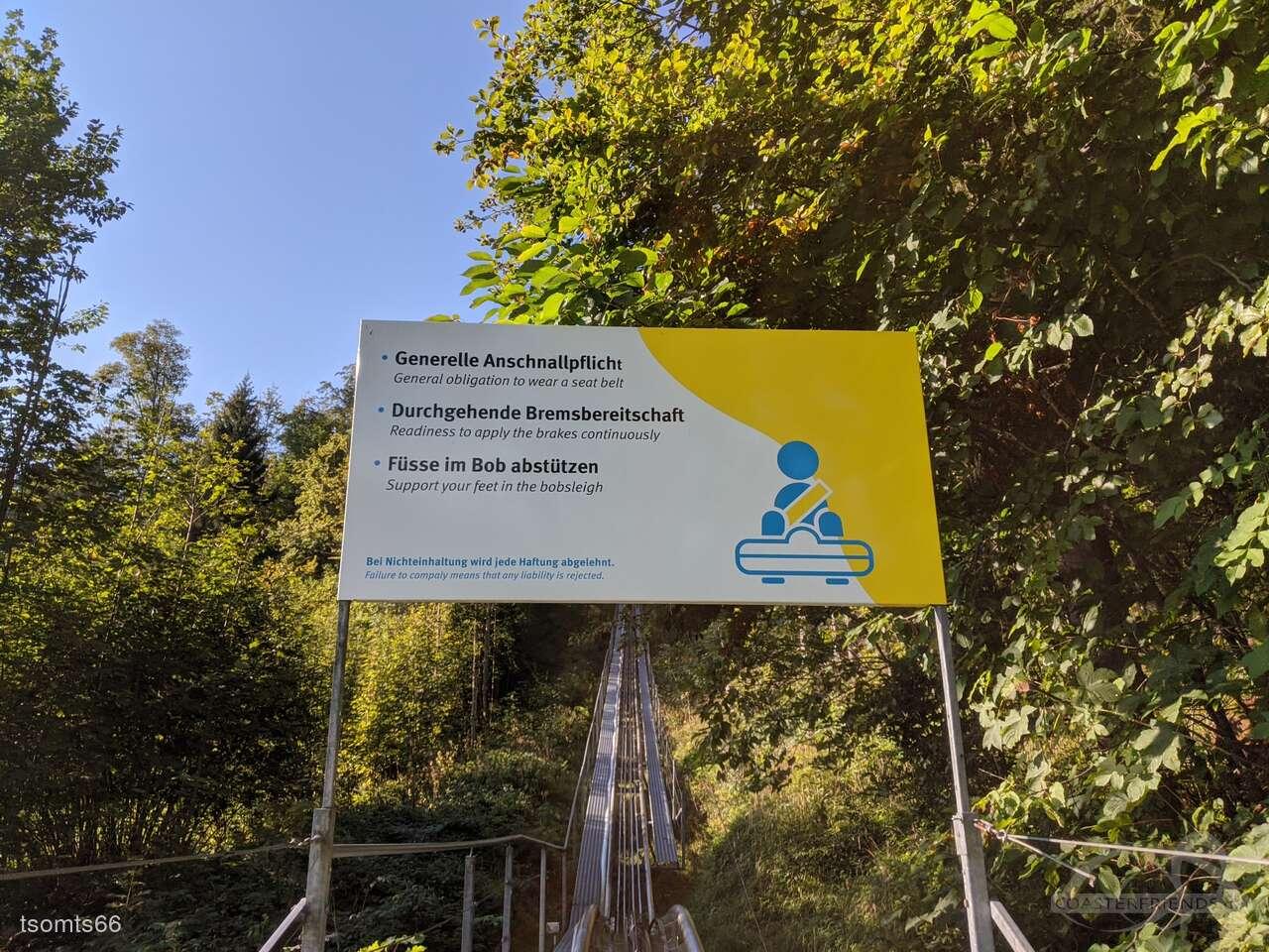 Kronberg-Bob im Park Luftseilbahn Jakobsbad-Kronberg AG Impressionen