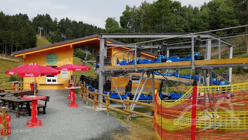 Schanzen Wirbel im Park Skiliftkarussell Winterberg Impressionen