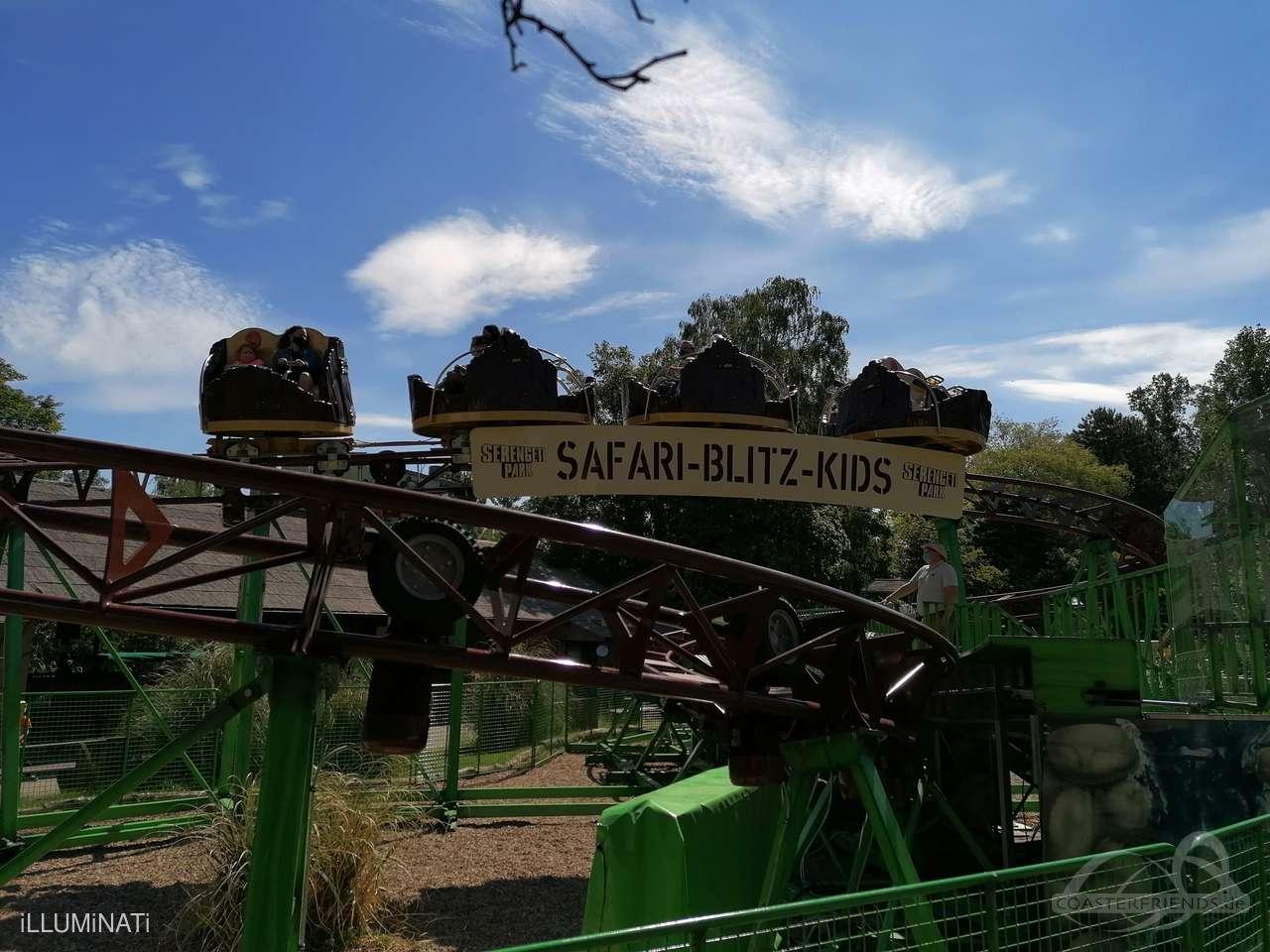 Safari-Blitz-Kids im Park Serengeti Park Impressionen