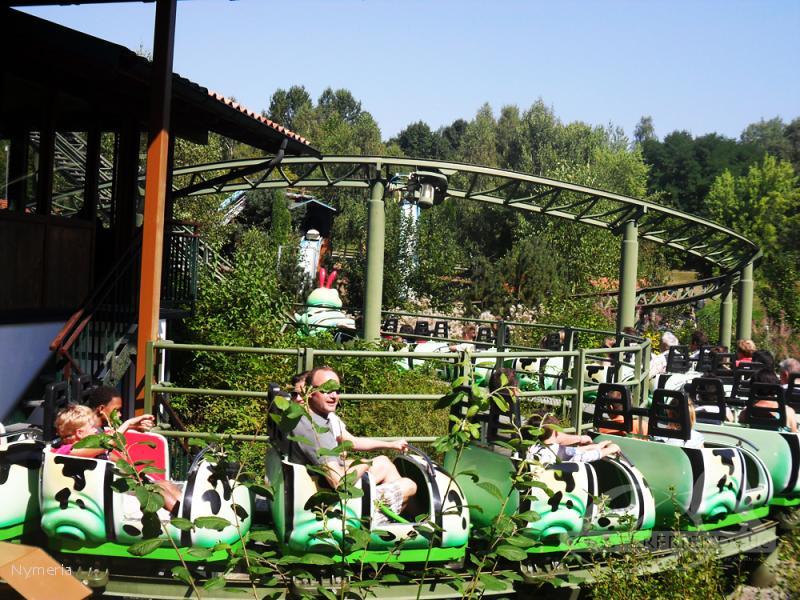 Achterbahn im Park Bayern Park Impressionen