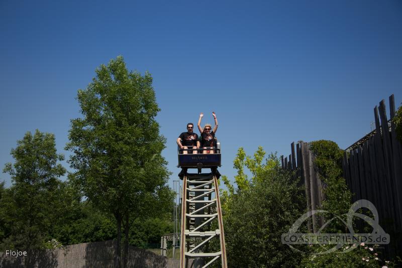 Drachenritt im Park Belantis Impressionen