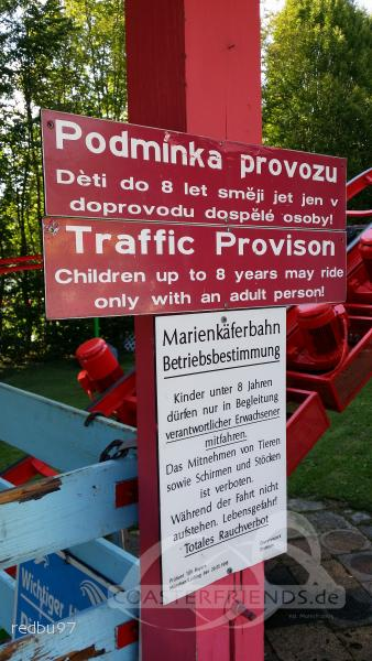 Marienkäfer Hochbahn im Park Churpfalzpark Impressionen