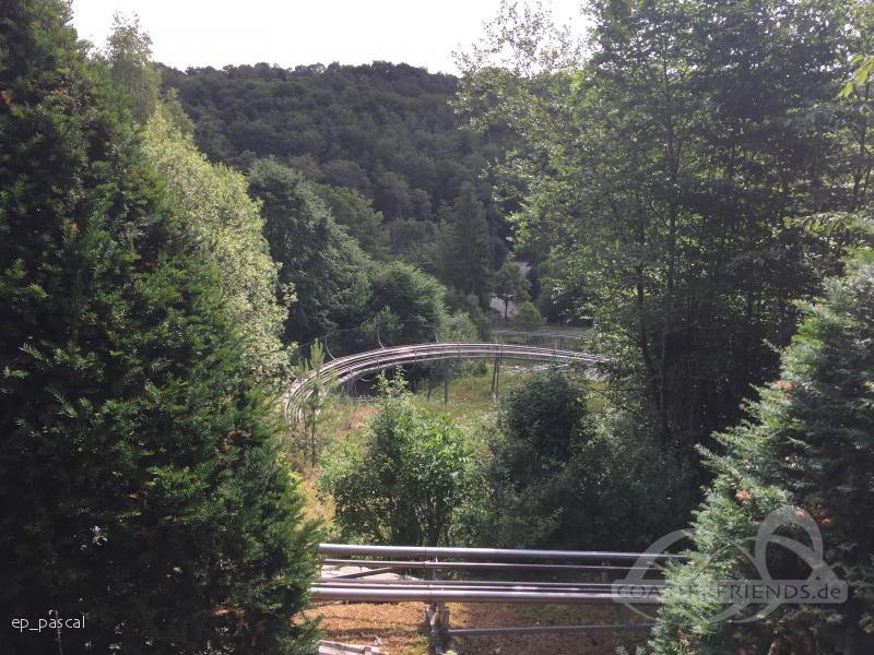 Eifel-Coaster im Park Eifelpark Impressionen