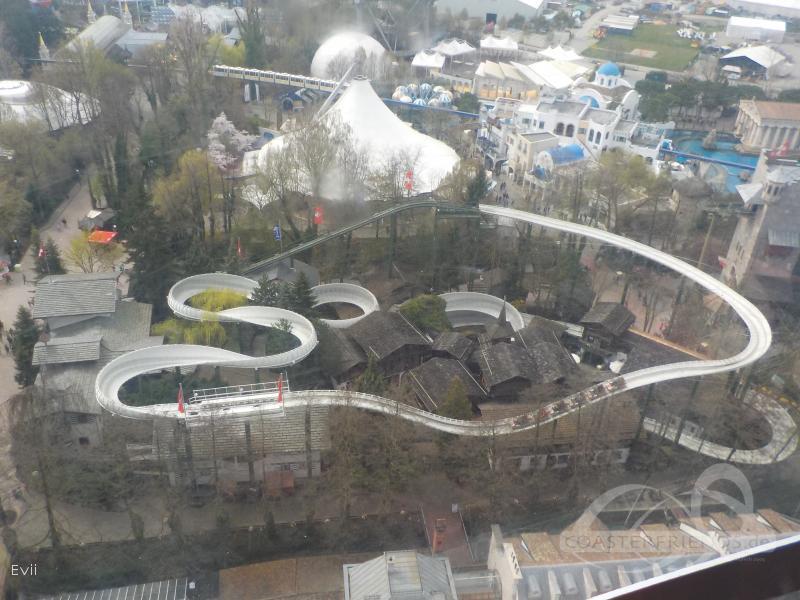 Schweizer Bobbahn im Park Europa Park Impressionen