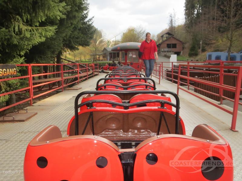 Marienkäferbahn im Park Fort Fun Abenteuerland Impressionen