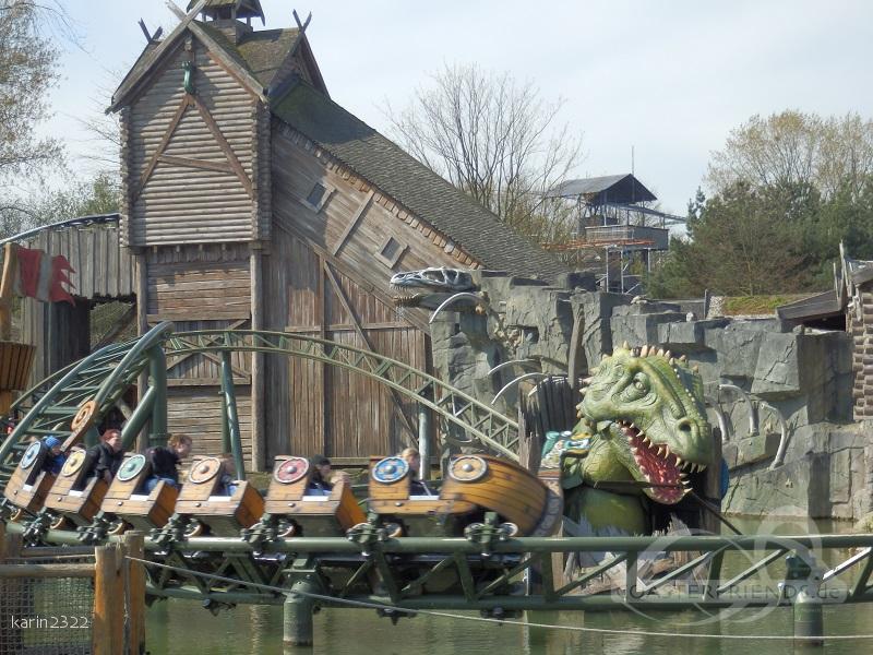 Die Schlange von Midgard im Park Hansa Park Impressionen