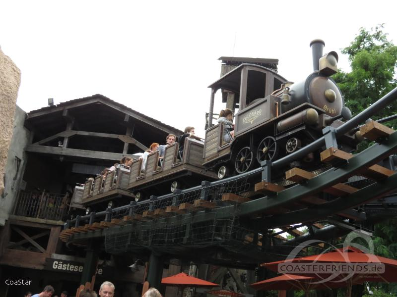 Colorado Adventure im Park Phantasialand Impressionen