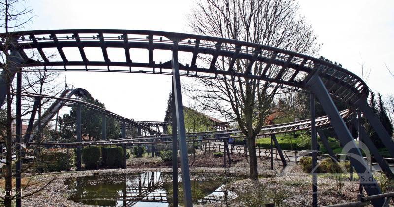 Achterbahn im Park Wunderland Kalkar Impressionen