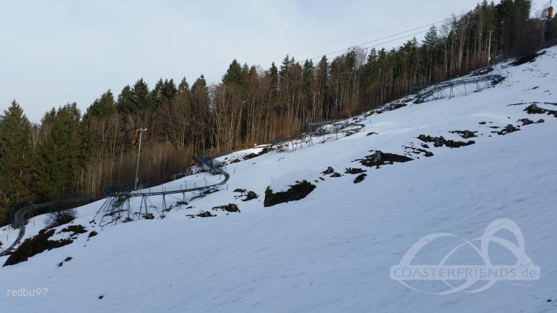 Alpsee Coaster im Park Alpsee Bergwelt Impressionen