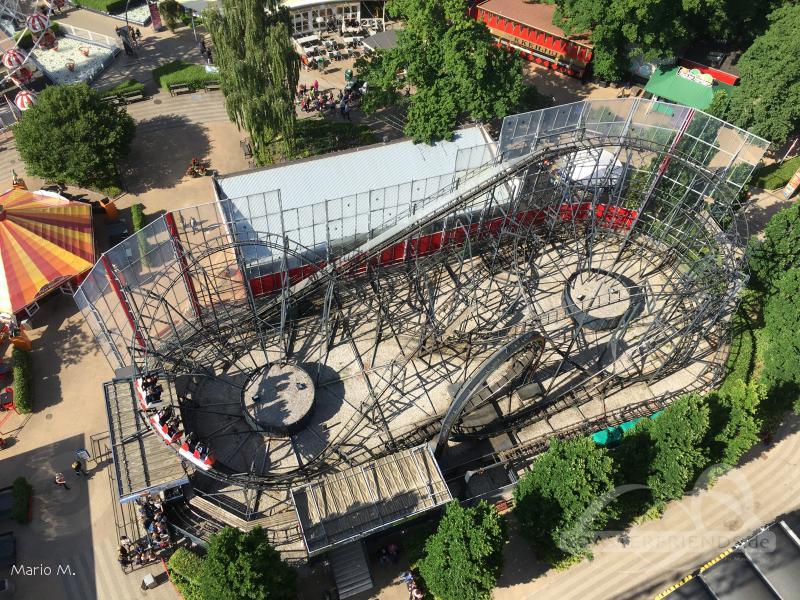 Orkanens Øje im Park Tivoli Friheden Impressionen