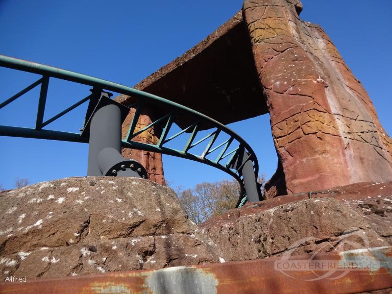 Mine Train Ulven im Park Bakken Impressionen