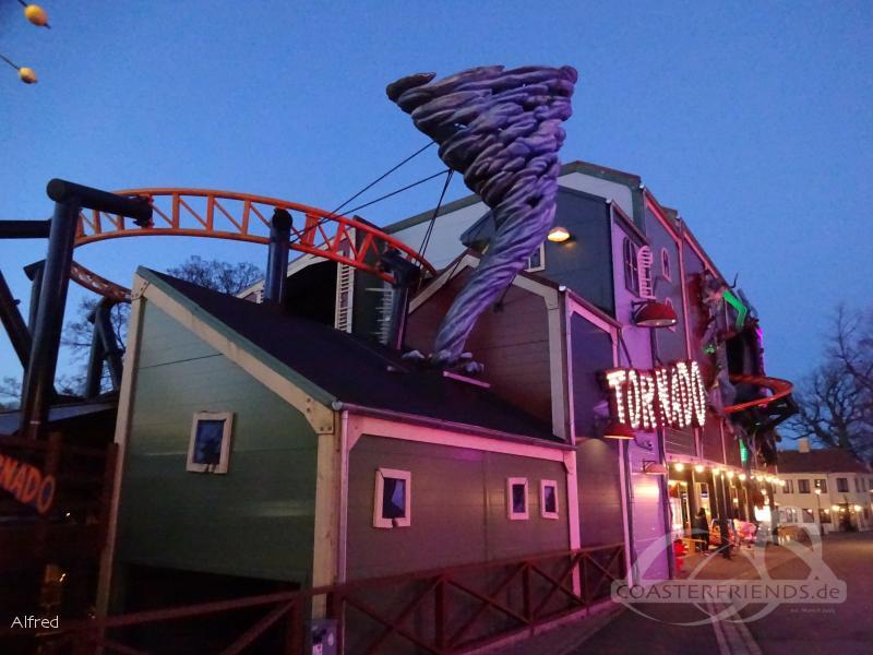 Tornado im Park Bakken Impressionen