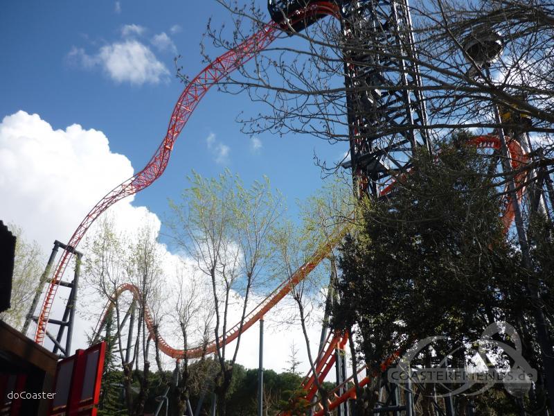 Abismo im Park Parque de Atracciones de Madrid Impressionen