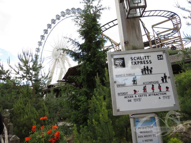 Schlitt'Express im Park Nigloland Impressionen