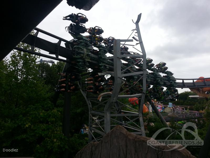 Raptor im Park Gardaland Impressionen