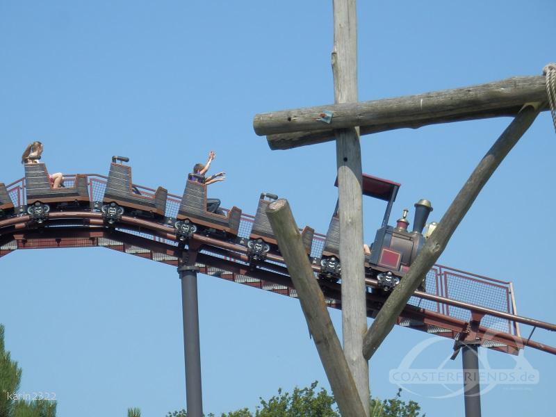 Mine Train im Park Attractiepark Slagharen Impressionen