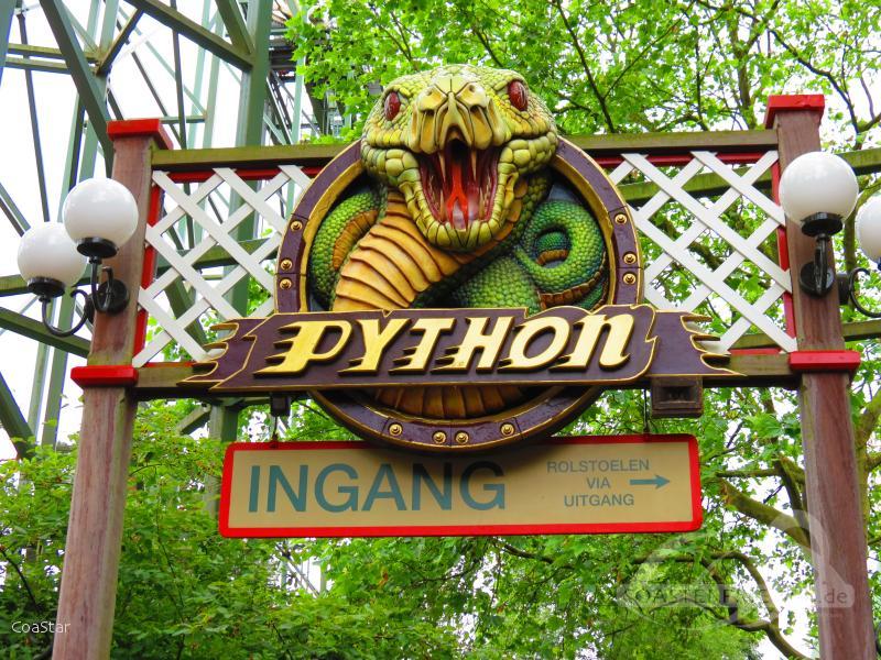 Python im Park Efteling Impressionen