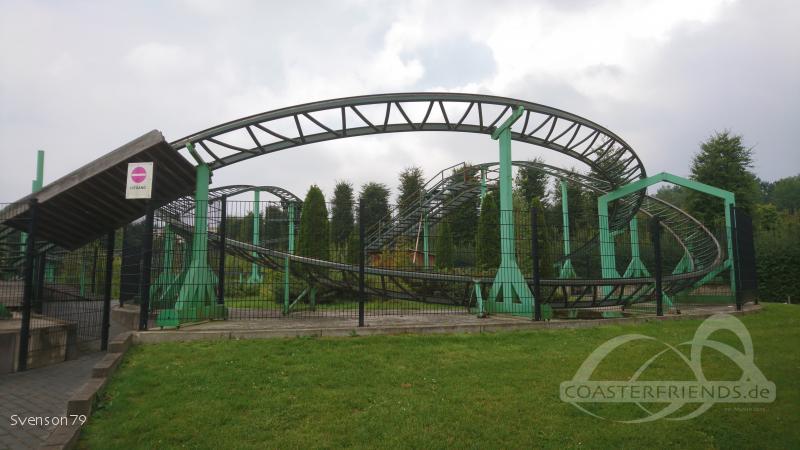 Wilde Tijger Achtbaan im Park Mondo Verde Impressionen