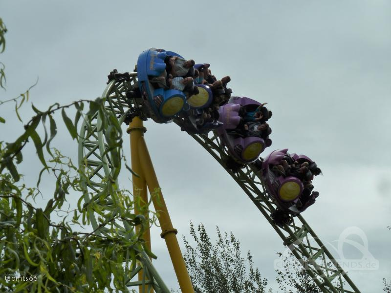 Dwervelwind im Park Toverland Impressionen