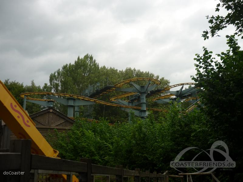 Flying Dutchman Gold Mine im Park Walibi Holland Impressionen
