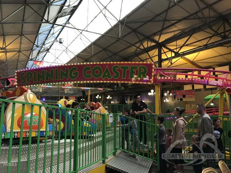 Spinning Coaster im Park Kinderstad Heerlen Impressionen
