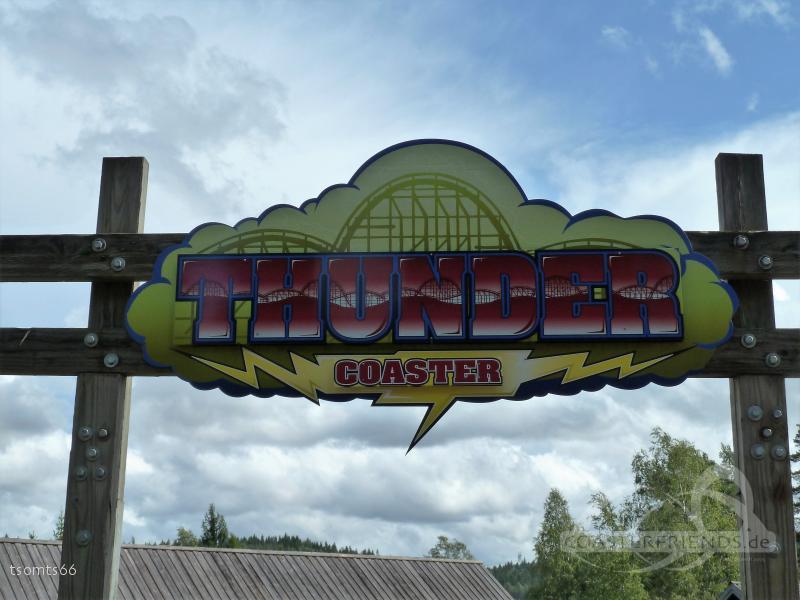 Thundercoaster im Park TusenFryd Impressionen