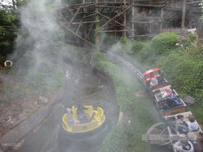 Runaway Mine Train im Park Alton Towers Impressionen
