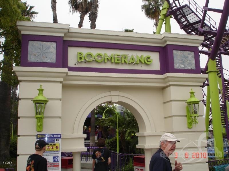 Boomerang im Park Knott's Berry Farm Impressionen