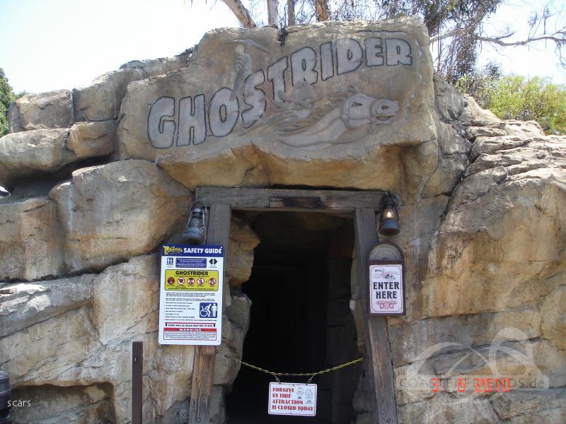 GhostRider im Park Knott's Berry Farm Impressionen