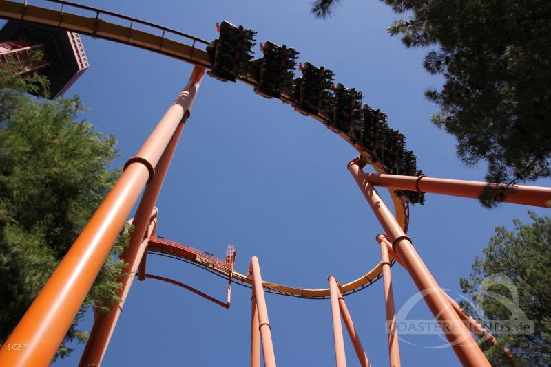 Tatsu im Park Six Flags Magic Mountain Impressionen