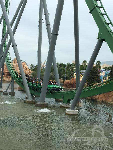 Incredible Hulk (New Version 2016) im Park Universal Studios Islands of Adventure Impressionen
