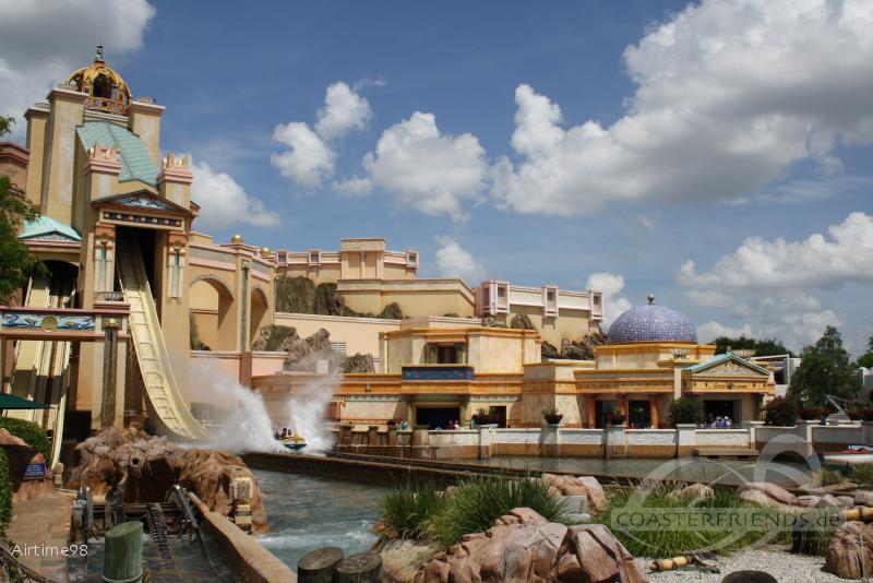 Journey to Atlantis im Park SeaWorld Orlando Impressionen