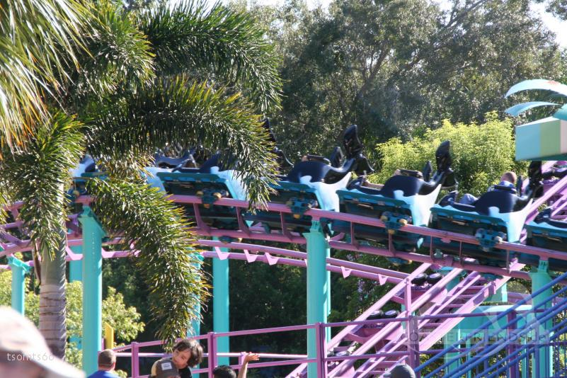 Super Grover's Box Car Derby (Shamu Express) im Park SeaWorld Orlando Impressionen