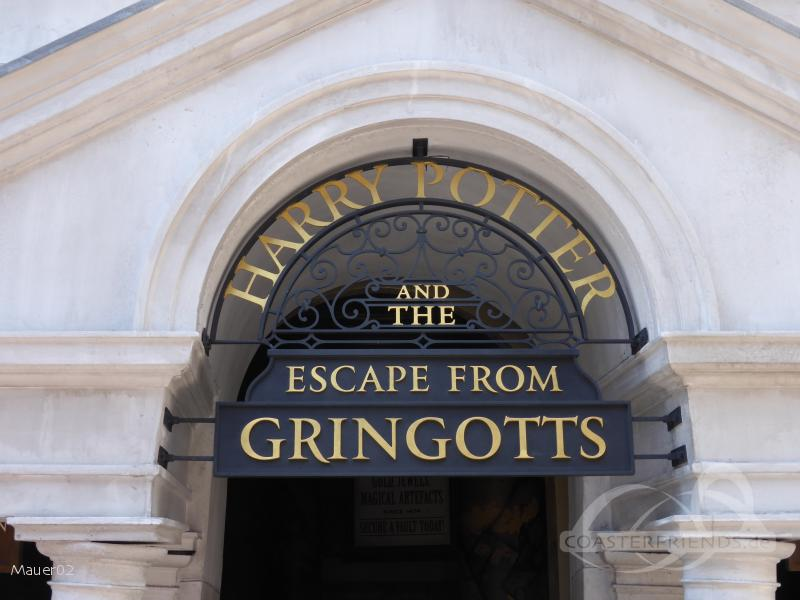 Harry Potter and the Escape from Gringotts im Park Universal Studios Florida Impressionen