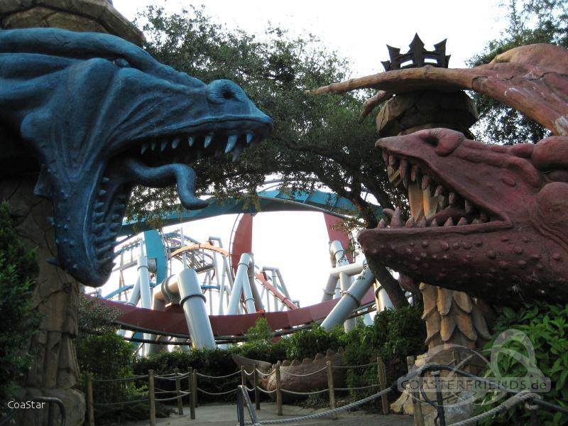 Dragon Challenge (Chinese Fireball) im Park Universal Studios Islands of Adventure Impressionen