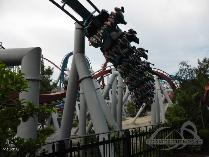 Dragon Challenge (Hungarian Horntail) im Park Universal Studios Islands of Adventure Impressionen